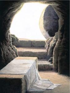 Jesus' empty tomb [ http://www.turnbacktogod.com/pictures-of-the-resurrection-of-jesus/]