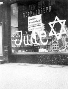 Boycotted Jewish buisness. [PD-USA]