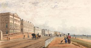 Brighton, England. Painting by Frederick William Woledge. [PD-art]