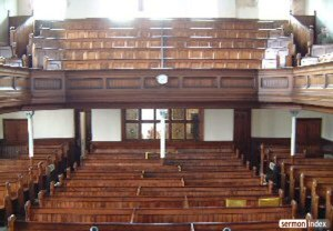Moriah Chapel interior. Image courtesy of sermonindex.net.