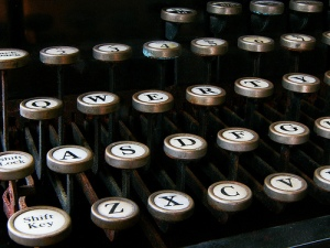 "L C Smith typewriter keyboard, like the one Biddy used to type ""My Utmost for His Highest.""  Image by Frederick Bisson."