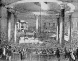 Charles Finney preaching. [PD-1923]