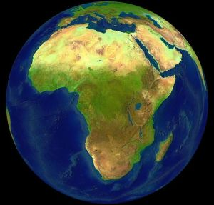 Africa. [Public domain picture taken by NASA.]