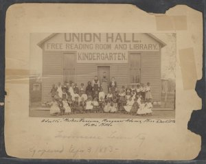 Tennesseetown kindergarten in 1893. [PD-1923]