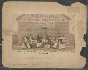 Tennesseetown kindergarten in 1893. [PD-1923]