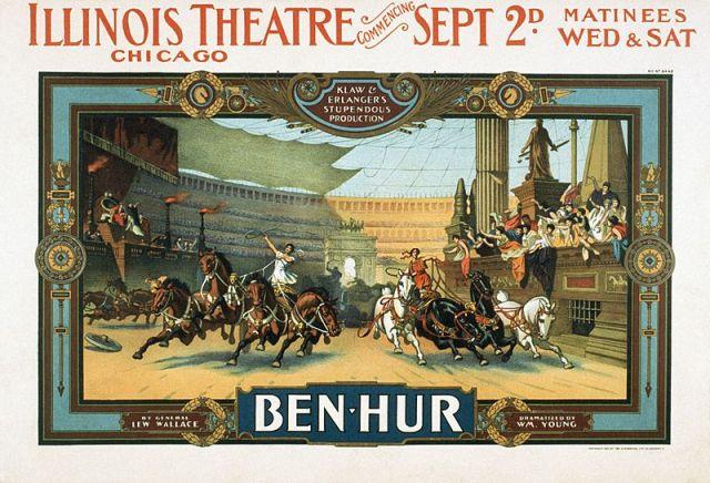 Ben-Hur play poster. [PD-1923]