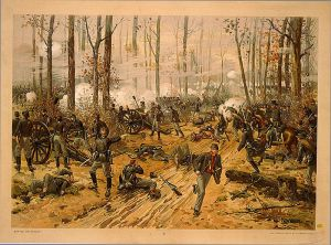 Painting of the battle of Shiloh by Thure de Thulstrup.           [PD-1923]