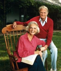 Ruth and Billy at home. Courtesy of the Billy Graham Evangelistic Association-http://billygraham.org/.