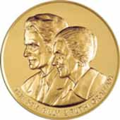 Billy and Ruth Graham's Congressional Gold Medal.   [PD-USA]