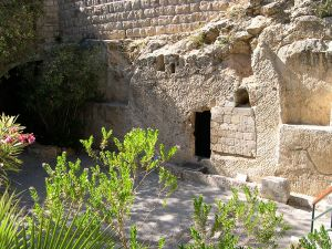 Jesus' empty tomb. Photo by upyernoz.